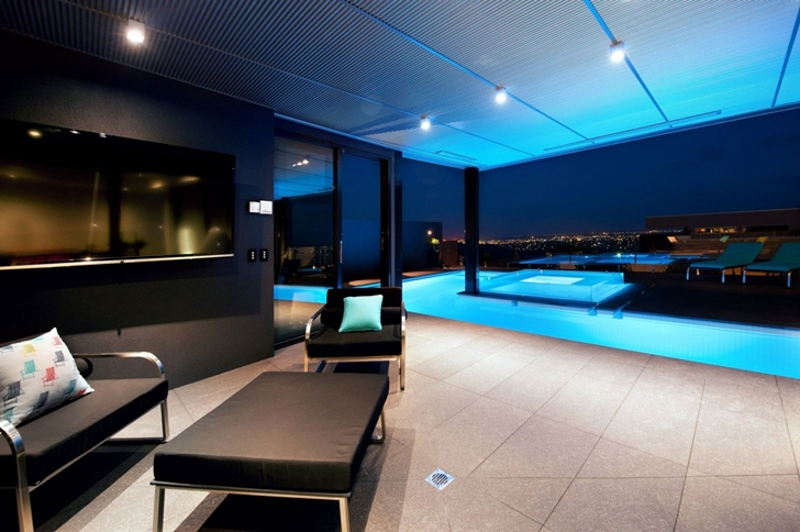 Ground floor terrace in Dream home in black and blue