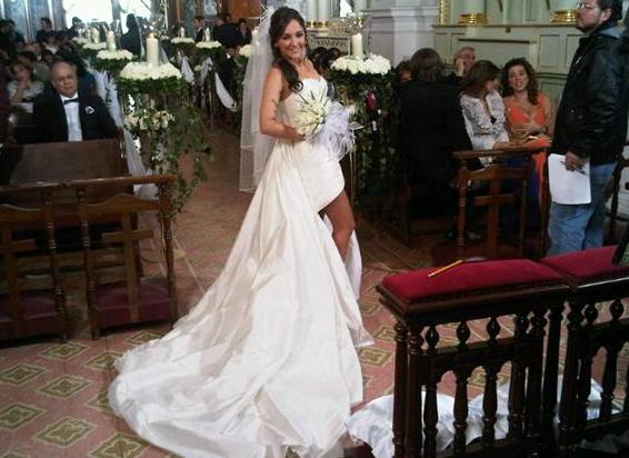 Sherlyn vestida de novia ¡Guapísima! (Fuente de las fotos: Twitter @ ...