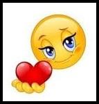 emoticon memberikan cinta