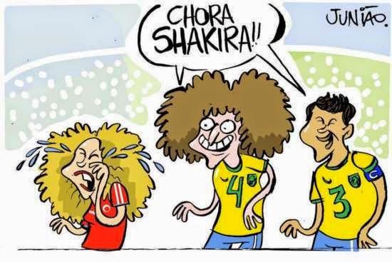 Brasil, David Luiz, Shakira, Colômbia, Cartoon, Junião