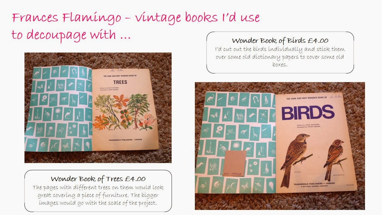 Vintage books from Frances Flamingo