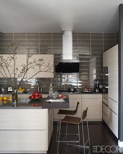elle decor beautiful black white silver kitchen