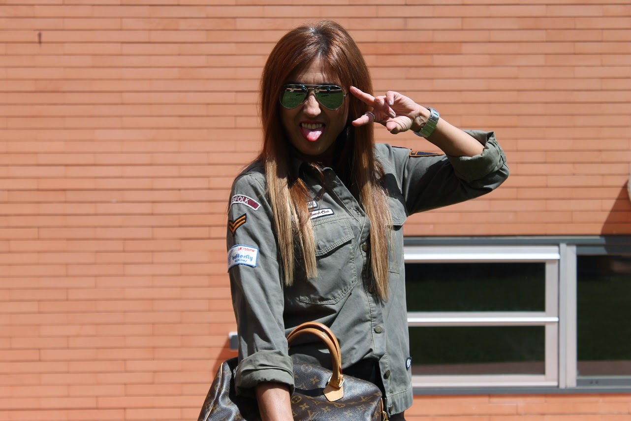 Look, street style, fashion bloguer, personal shopper, nike, zara, caqui, Louis Vuitton, Carmen Hummer Style, shoes, bag, militar, blog de moda