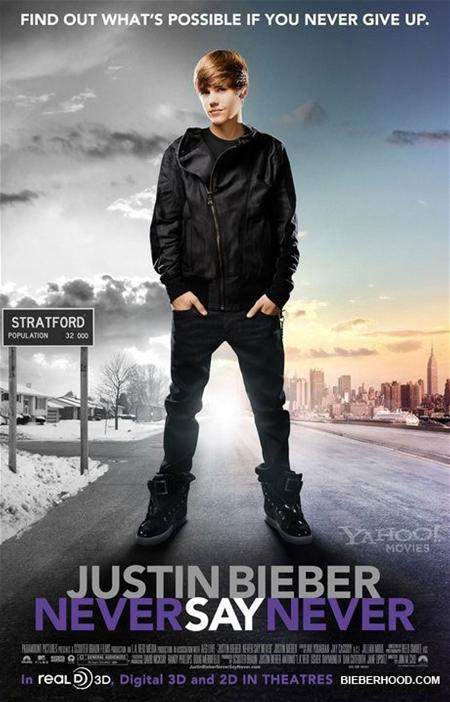 justin bieber never say never dvd cover. justin bieber on stage never