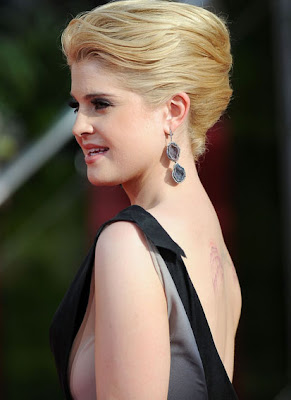 Kelly Osbourne Dangling Gemstone Earrings