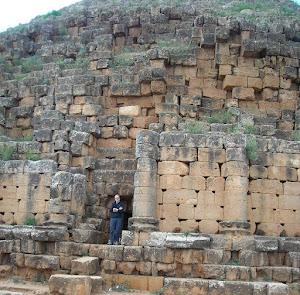 Exploring theTomb of Cleopatra II, near Tipasa, Algeria