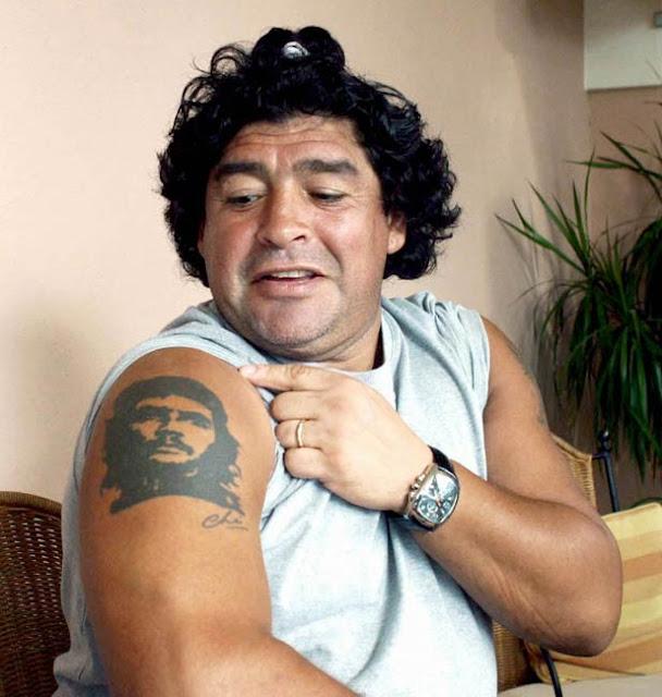 Tatttoo soccer Maradona