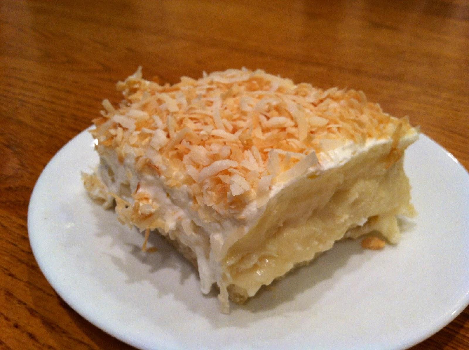 menu managed: Coconut Cream Pie Bars