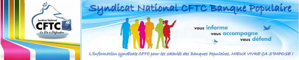 Blog du Syndicat National <br>CFTC Banque Populaire