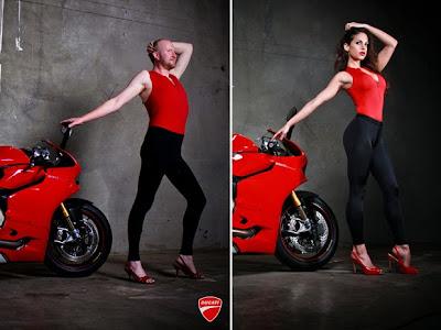 Jika Cowok Jadi Model Sepeda Motor