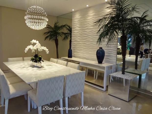 Sala De Jantar Retangular ~  Minha Casa Clean Decoração da Semana! Inspirese na Sala de Jantar