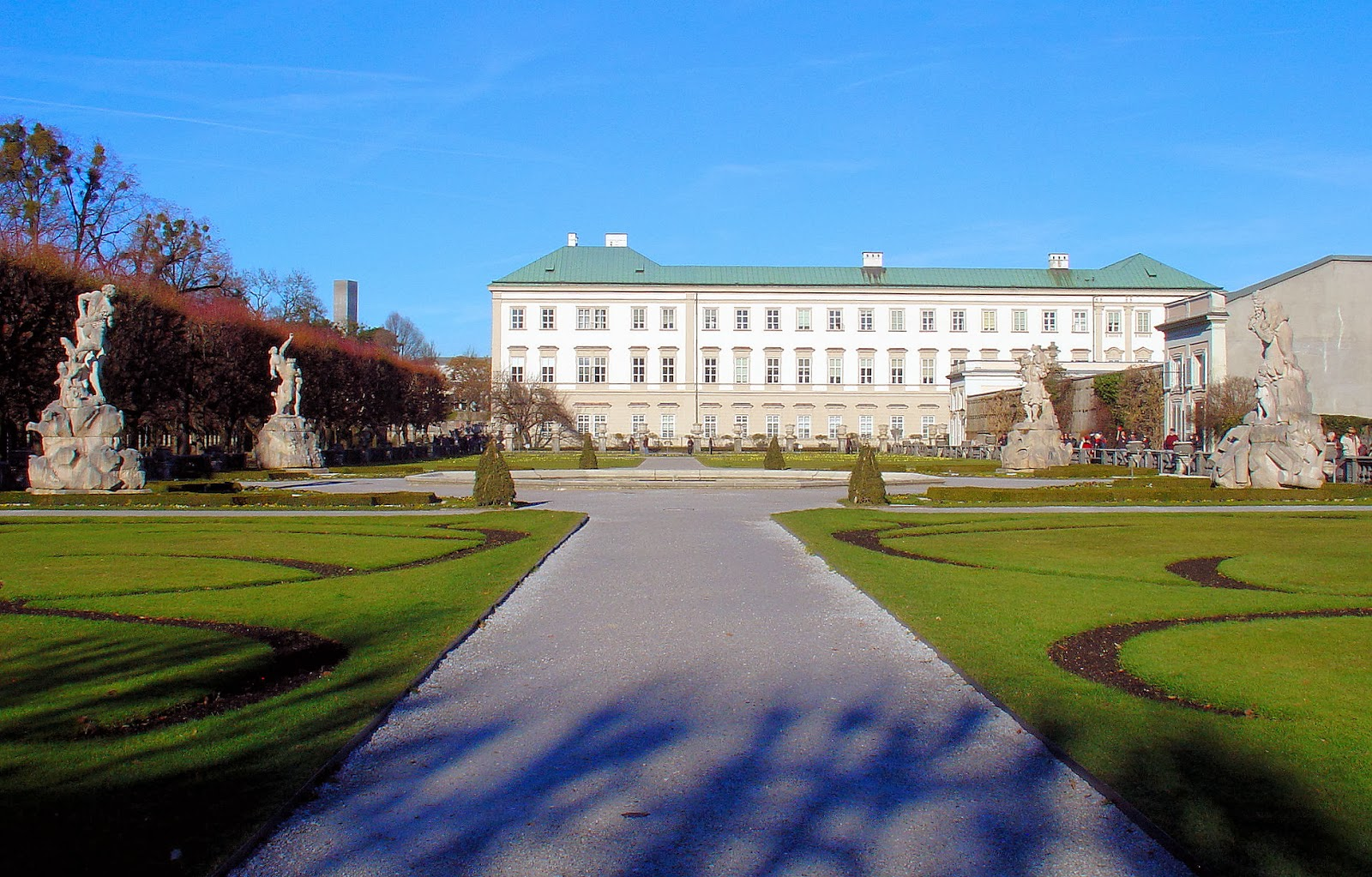 Mirabell Palace and Gardens even looks beautiful in the wintertime.
