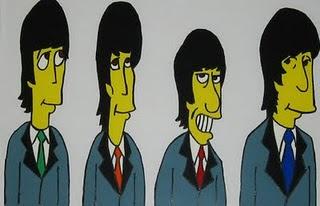 Beatles desenho simpsons
