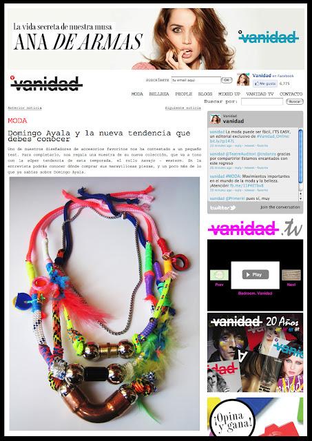 VANIDAD.es Domingo Ayala Handmade