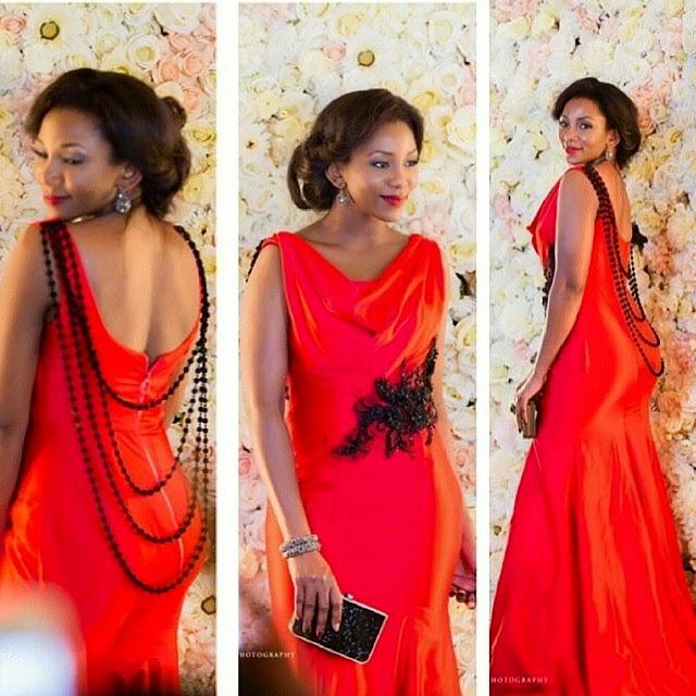 Check out Genevieve Nnaji's in Amazing Orange Dress