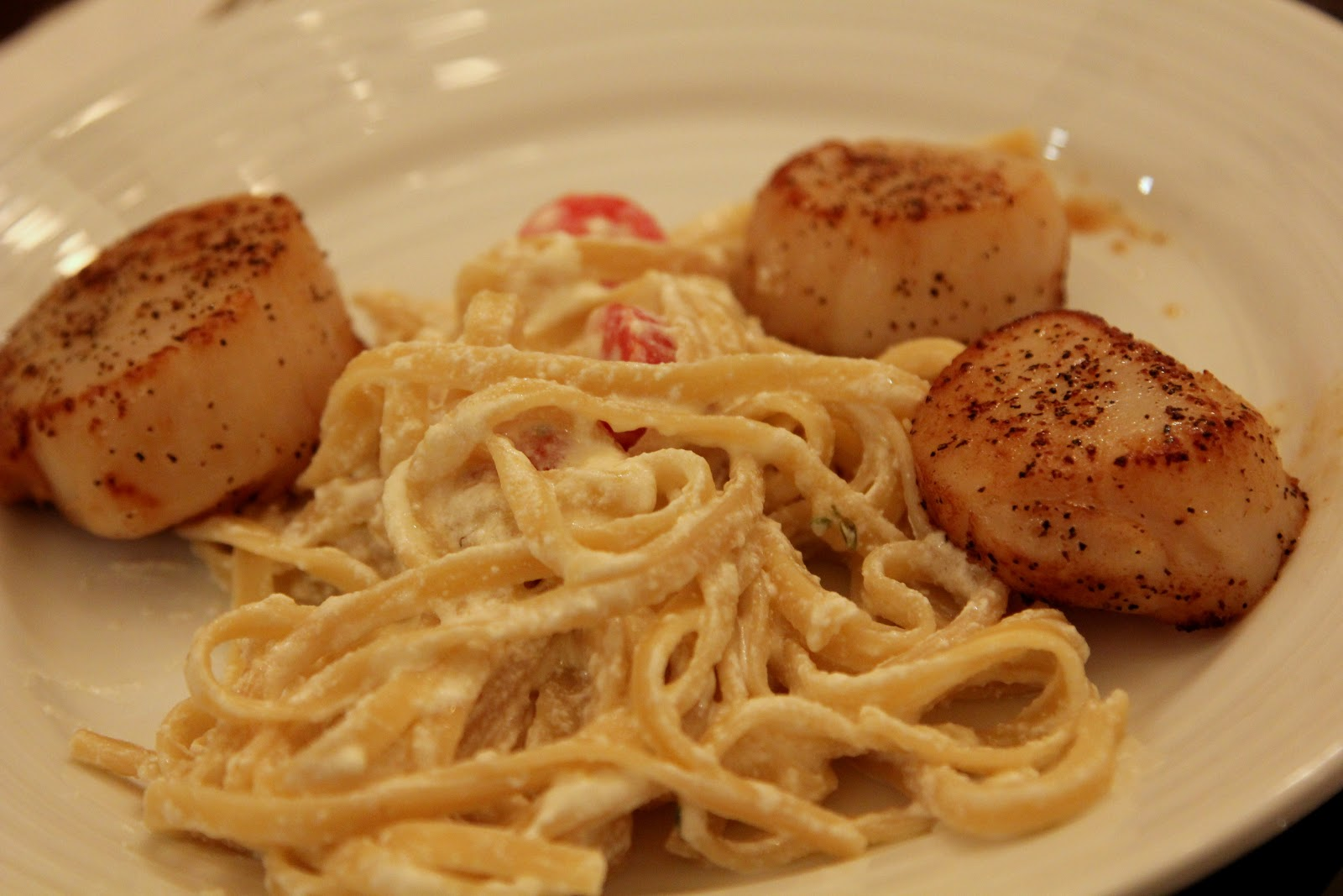 The Family Cook: Lemon Pasta with seared Scallops