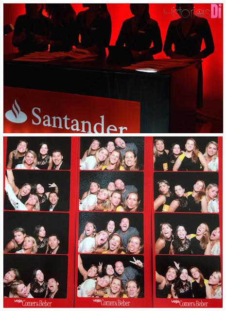 Muita diversão no quiosque do Santander
