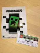 That's the box for the Minecraft LEGO set. I preordered it a few weeks ago .