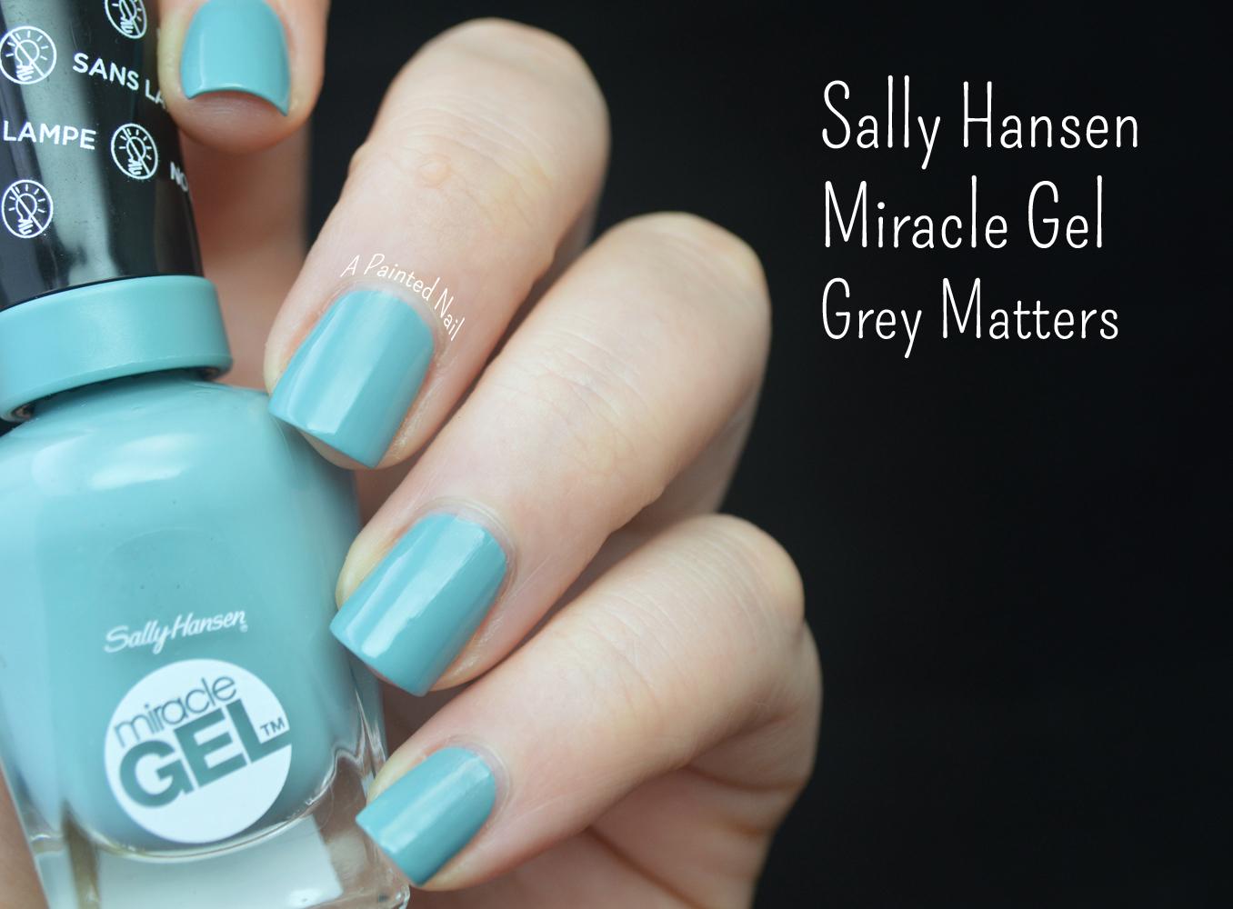 A Painted Nail: Sally Hansen Miracle Gel Polish System Grey Matters