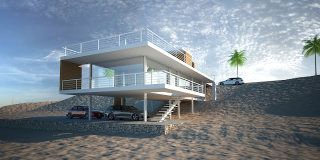 La forma moderna en latinoam rica casa de playa en tortugas - Casa de playa ...
