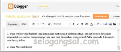 cara mudah membuat screenshot