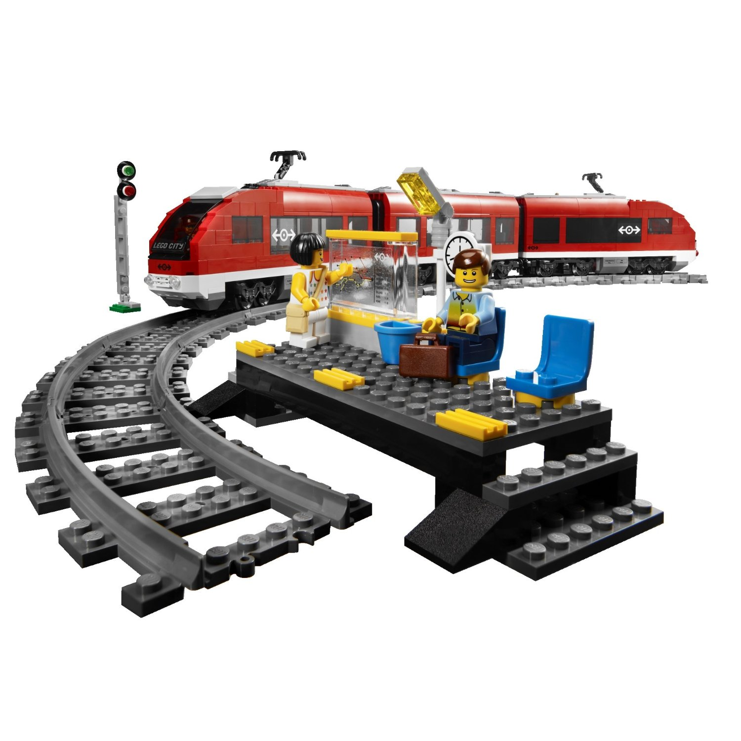 Lego City Passenger Train 7938 onetwobricks: LEGO set...