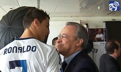 Cristiano Ronaldo and Florentino Perez Cold meeting
