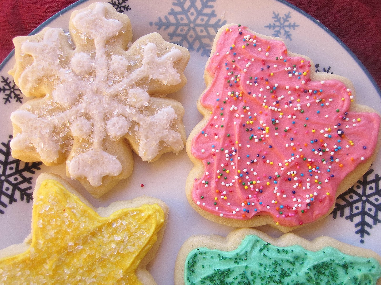 christmas cutout cookies with nutmeg