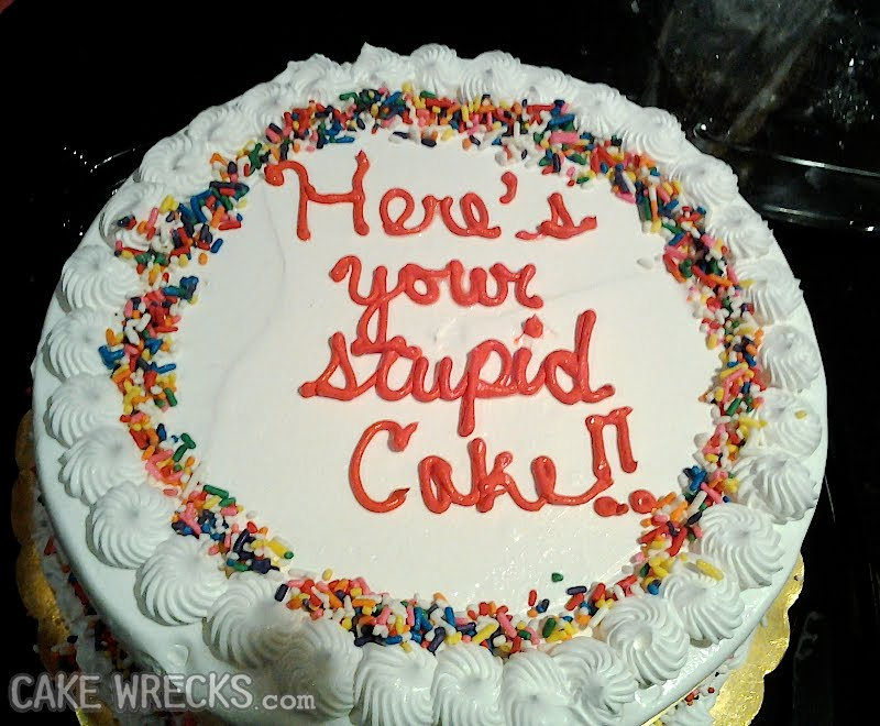 Fotos de tortas con mensajes desastrosos y graciosos | Rincón ...