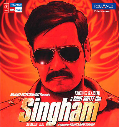 Singham (2011) Hindi Movie MP3 Songs CD Cover Front Poster Download - Ajay Devgan & Kajal Agarwal