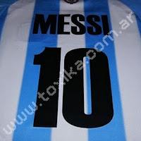 Estampado de números en camisetas de fútbol