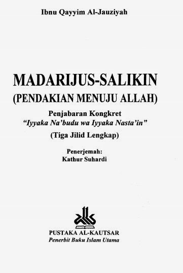 download Ebook Madarijus Salikin
