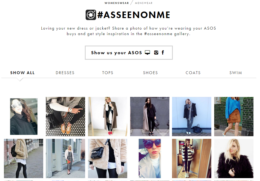 ASOS social media campaign