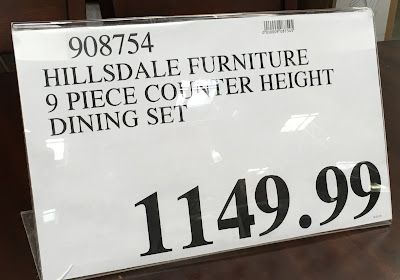 Deal for the Hillsdale Furniture 9 Piece Counter Height Dining Set at Costco