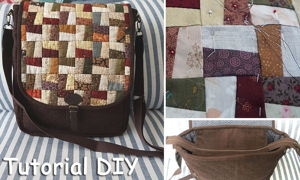 Quilt patchwork windmill Bag. DIY step-by-step tutorial. ����� ������� - ������-�����