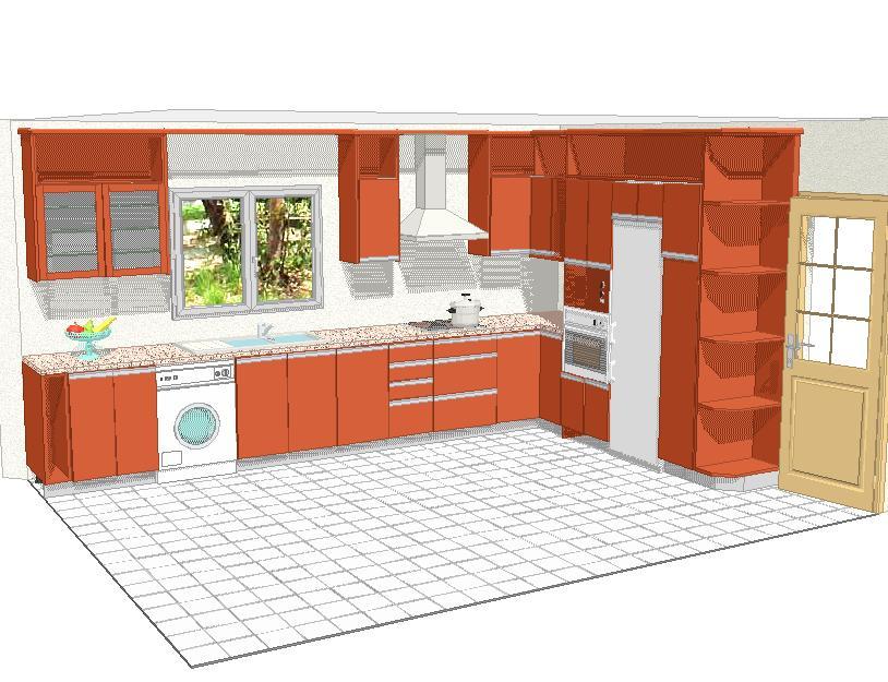 Cocisan planos en 3 dimensiones for Planos cocinas modernas