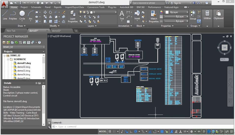 Vtc autodesk autocad electrical 2016 basic concepts full tutorial