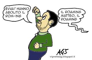 roaming, salvini, rom, satira, vignetta