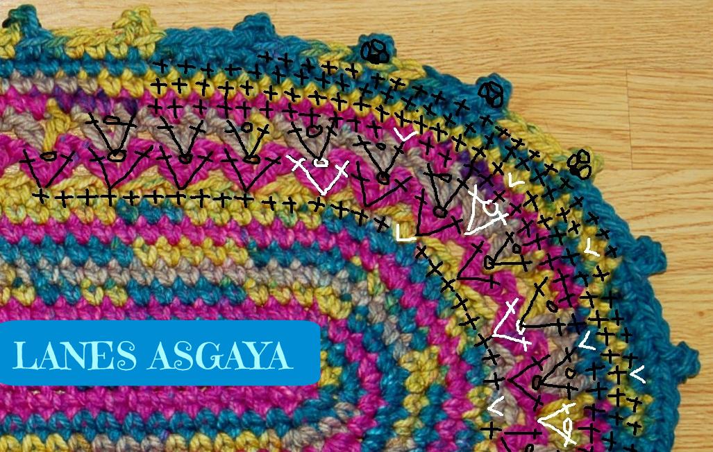 lanes asgaya: ALFOMBRA A CROCHET. PATRÓN GRATIS