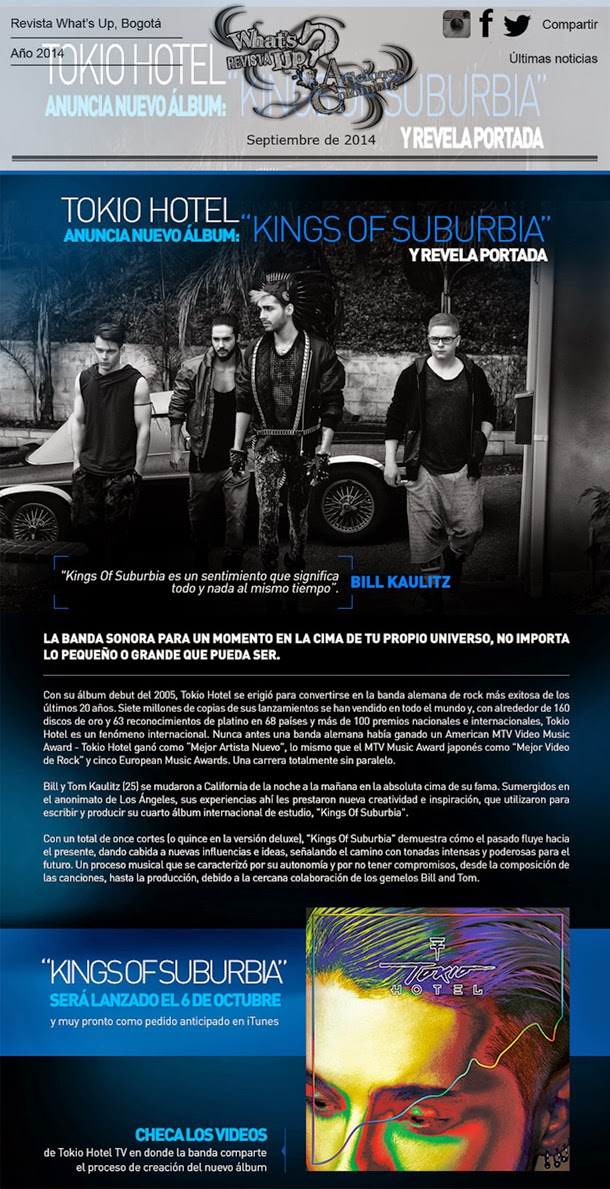 Tokio-Hotel-anuncia-nuevo-álbum-Kings-Of-Suburbia-revela-portada