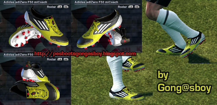 Adidas Adizero micoach Black White yellow by Gongasboy