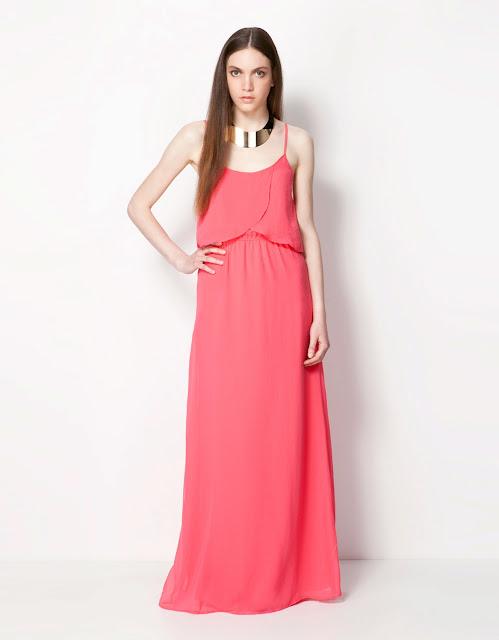 askılı pembe renkli gece elbisesi, maksi elbise, uzun elbise, bol kesim elbise, yazlık elbise