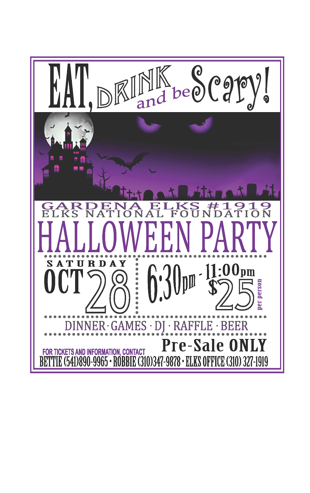 Halloween Party - Oct 28th