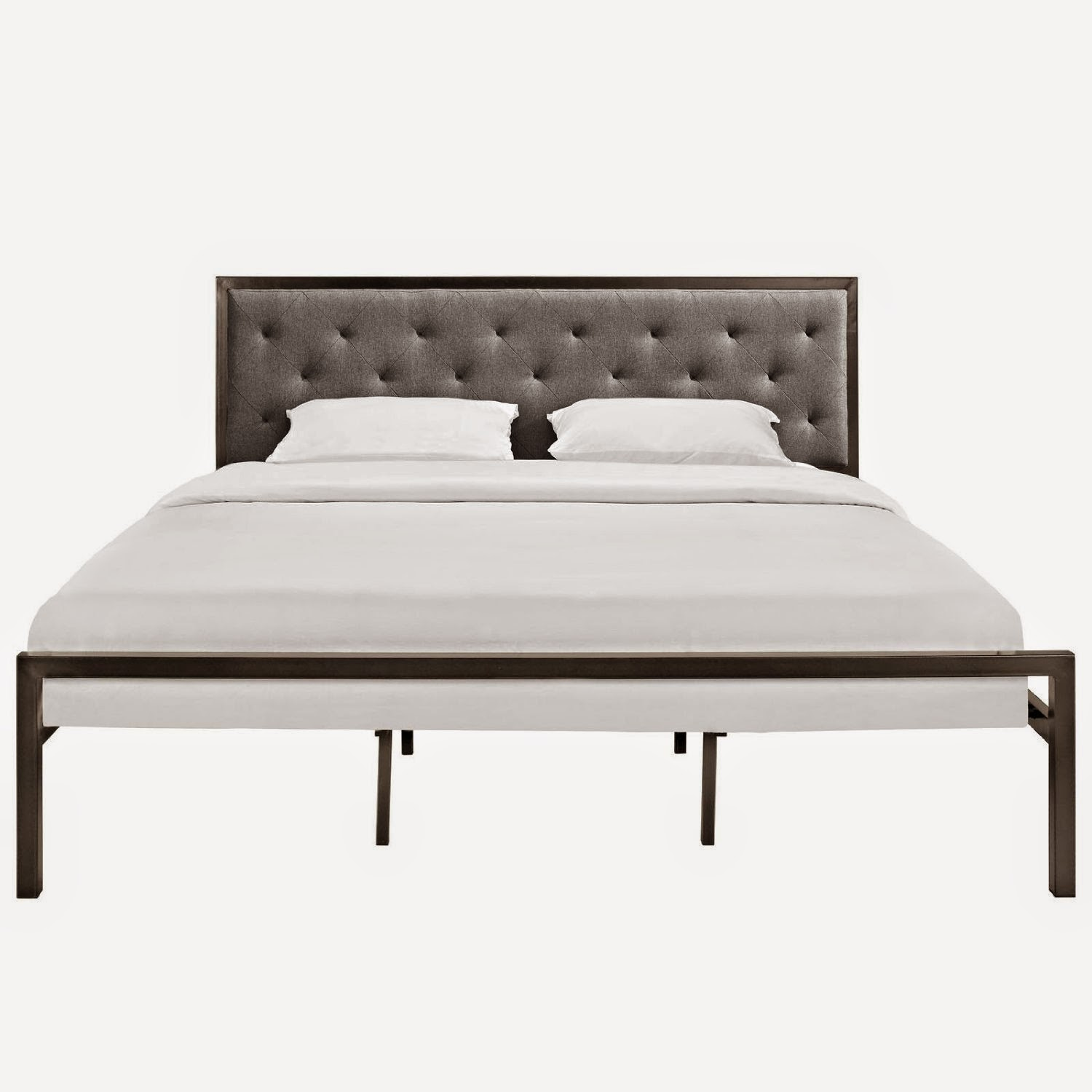 best bed frame in brown gray