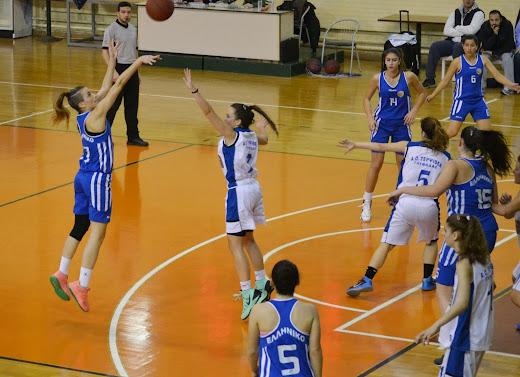 Προκρίθηκε στα ημιτελικά των νεανίδων  η ΑΕΣ Ελληνικού 58-54 την Τερψιθέα και 2-0