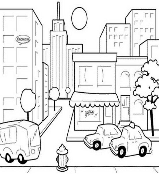 imagens para colorir zona urbana - Colorir Desenho Zona Rural Desenhos para Smartkids