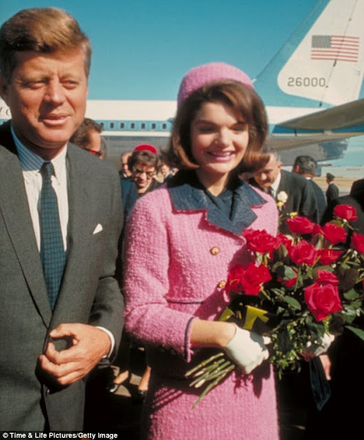 Jackie Kennedy in the famous pink suit