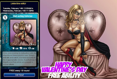 Valentine's Day card at Superhero City