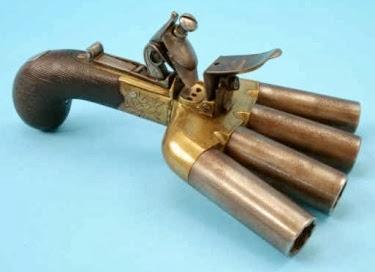 4 Barrel Pepperbox Pistol