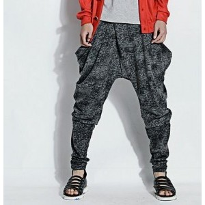 male print harem pants